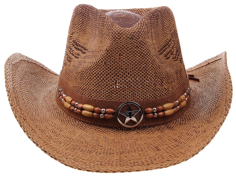 73556feaec4c0 Enimay Western Outback Cowboy Hat Men s Women s Style Straw Felt Canvas  SW-3630D-BK larger image