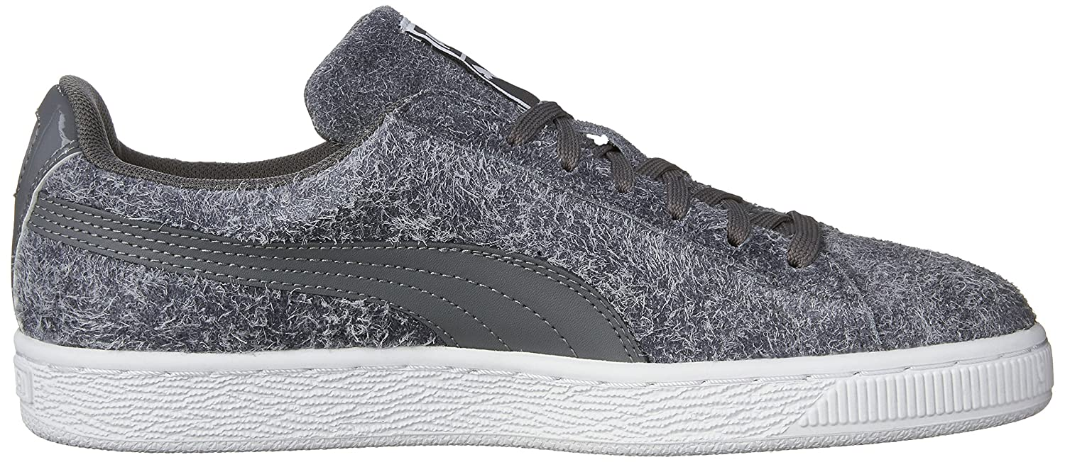 PUMA Women's Suede Elemental WN's Fashion Sneaker B01C9JJG4U 6 M US|Steel Gray-puma White