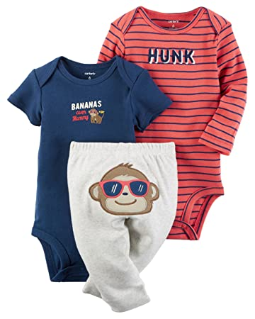 17a549982c16 Image Unavailable. Image not available for. Color  William Carter Baby Boys   3 Piece Take Me Home Set ...
