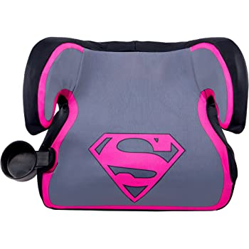 KidsEmbrace Supergirl Booster Car Seat DC Comics Youth Backless Gray 4801SPG2