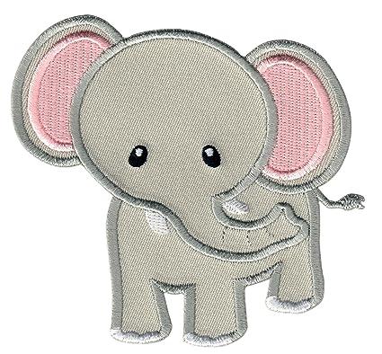 PatchMommy Parche Bordado Elefante Gris Parche Termoadhesivo - Parches y Apliques Infantiles
