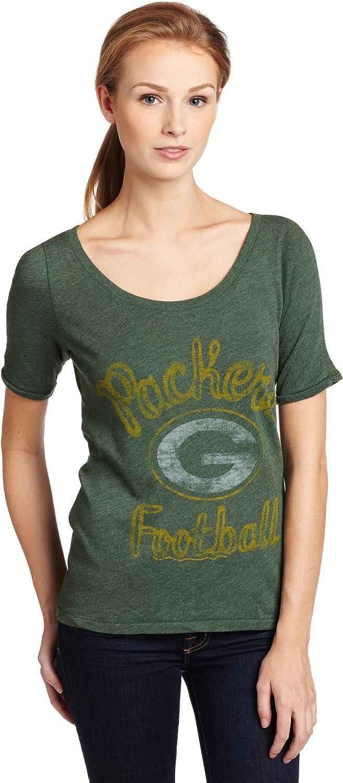 NFL Green Bay Packers Heather Vintage Thermal Sleeve Athletic Tee Women's