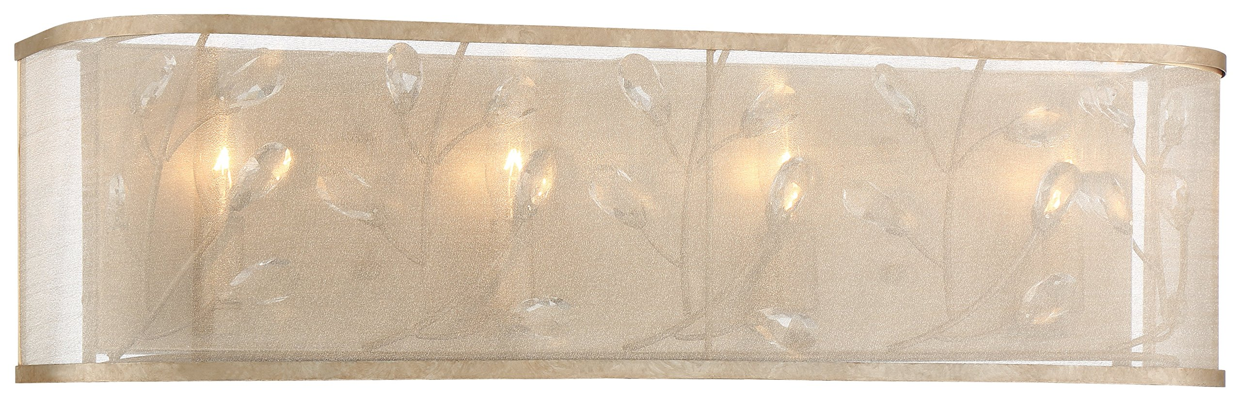 Minka Lavery Minka 3434-252 Transitional Four Light Bath from Sara`S Jewel Collection in Gold, Champ, Gld Leaffinish S