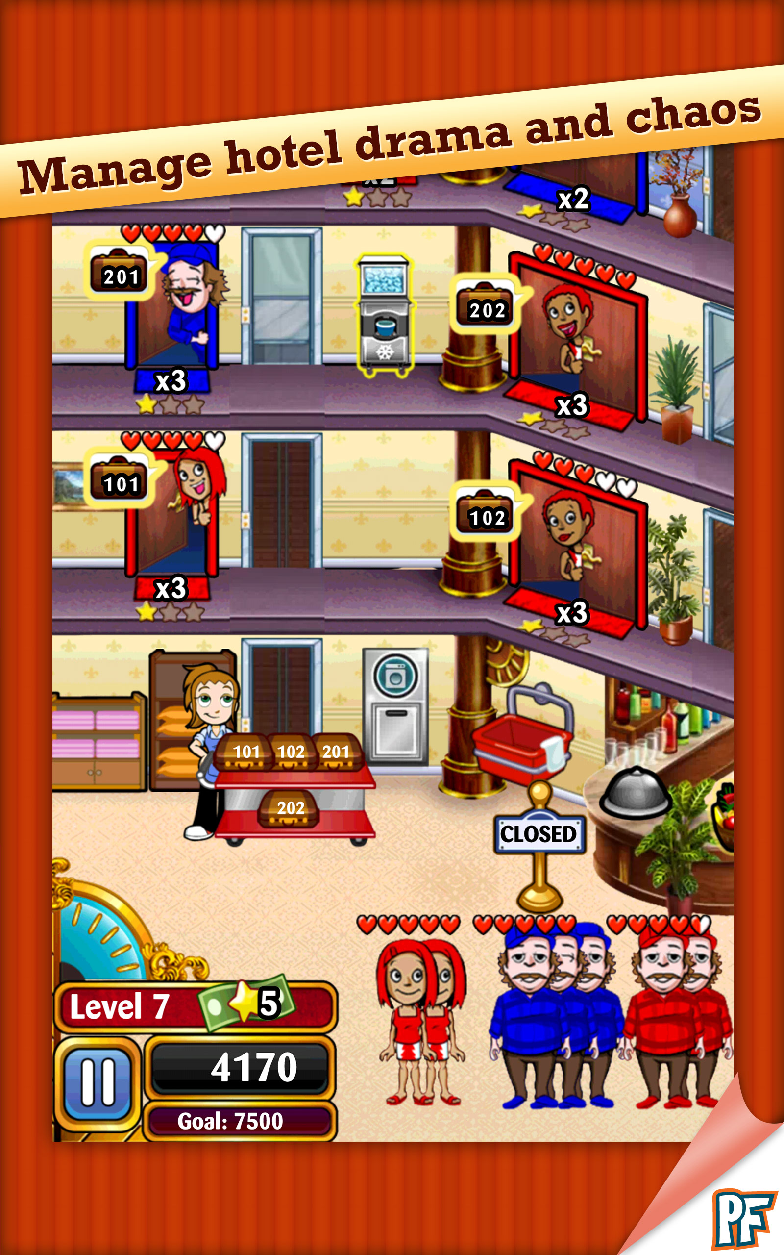 Download hotel dash deluxe (mod money) for android   hotel dash.