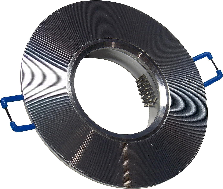 LA) Pack X 10 aros de aluminio para halógeno gu10 color ALUMINIO ...