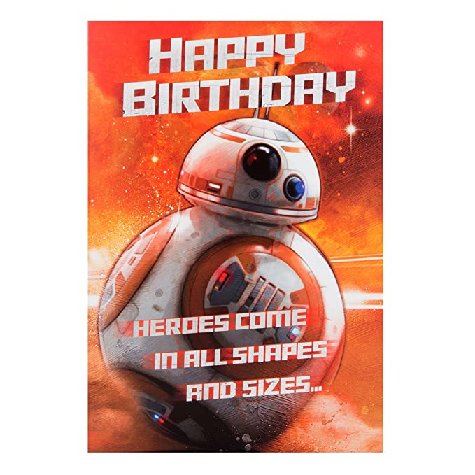 Amazon.com : Star wars bb-8 birthday card : Office Products