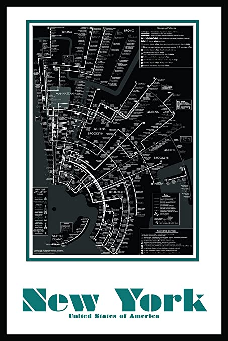 Large Ny Subway Map.Amazon Com Buttered Kat New York City Subway Map Wall Art Decor