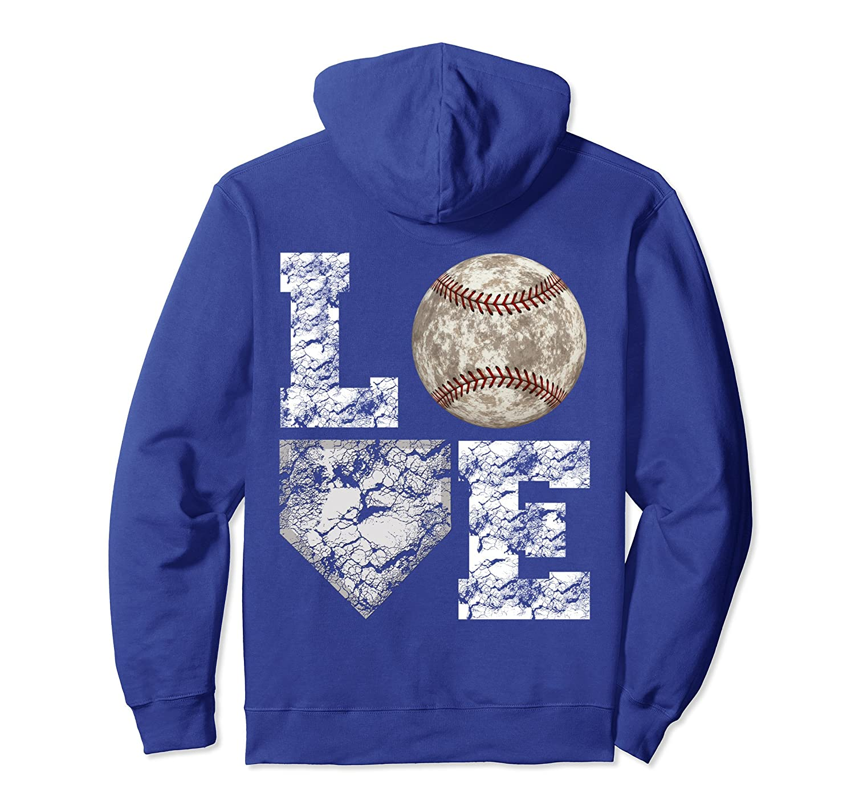 Baseball Distressed Ball Cute Mom Love Pullover Hoodie-TH