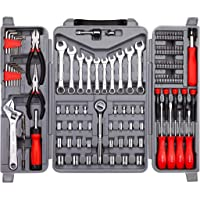 Cartman 123-Piece Tool Set - Ratchet Wrench with Sockets Kit Set in Storage Case