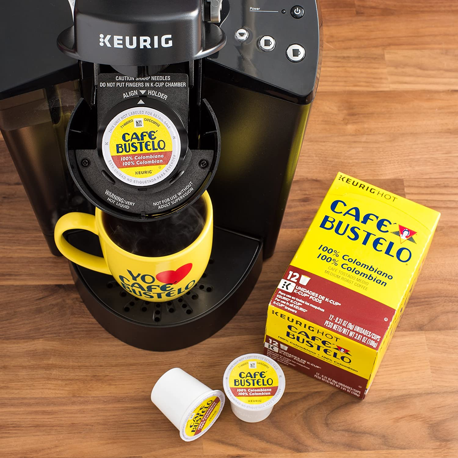 Café Bustelo Espresso Style K-Cup Pods for Keurig Brewers, Dark Roast Coffee, (.Café Espresso.2 Pack-72 Count): Amazon.com: Grocery & Gourmet Food