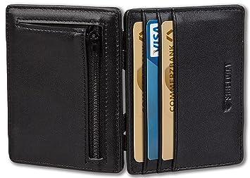 e42c5f738f903 SHIELDIFY ® Magic Wallet  quot STAR quot  Münzfach Geldbörse Herren klein  Portemonnaie Geldbeutel Männer dünn