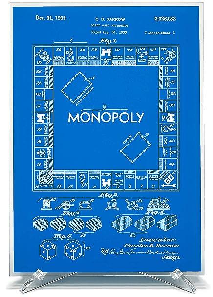 Amazon.com: Blast! Desk Art, Monopoly Patent Print with ...
