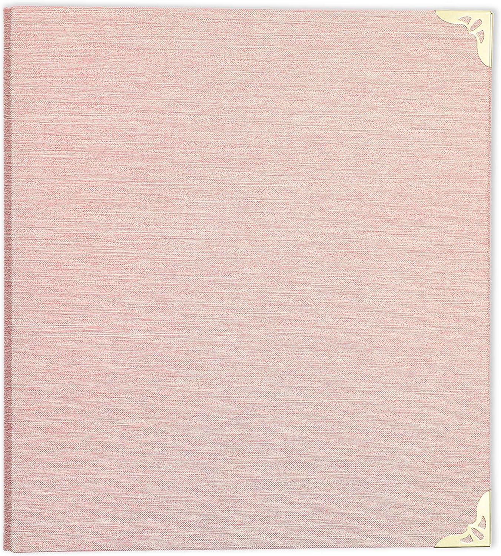 Gold Hardware File Folder Pink Cloth Bound 3 Ring Binder 1.5 in
