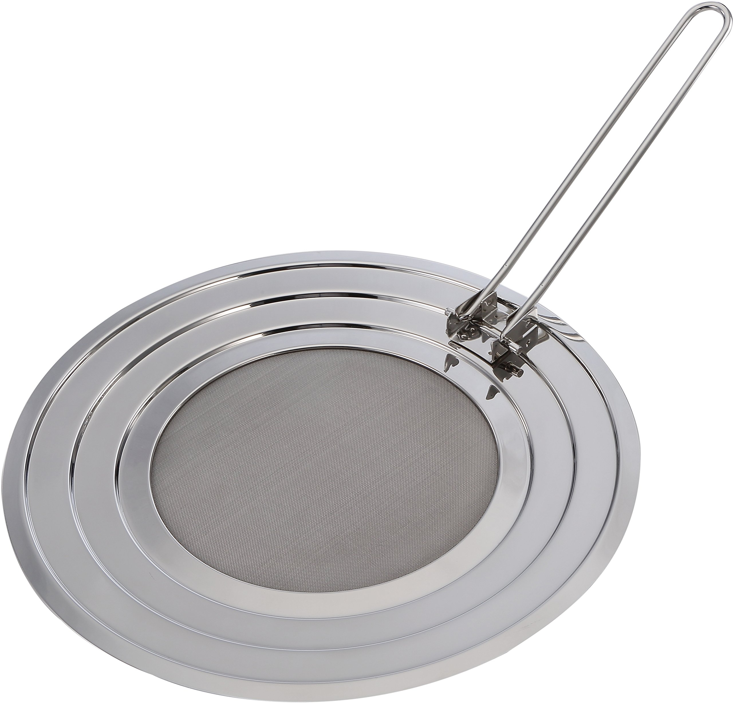 Pro Chef Kitchen Stainless Steel Cooking Grease Mess Eliminator Splatter Screen Guard for Frying Crisp Bacon