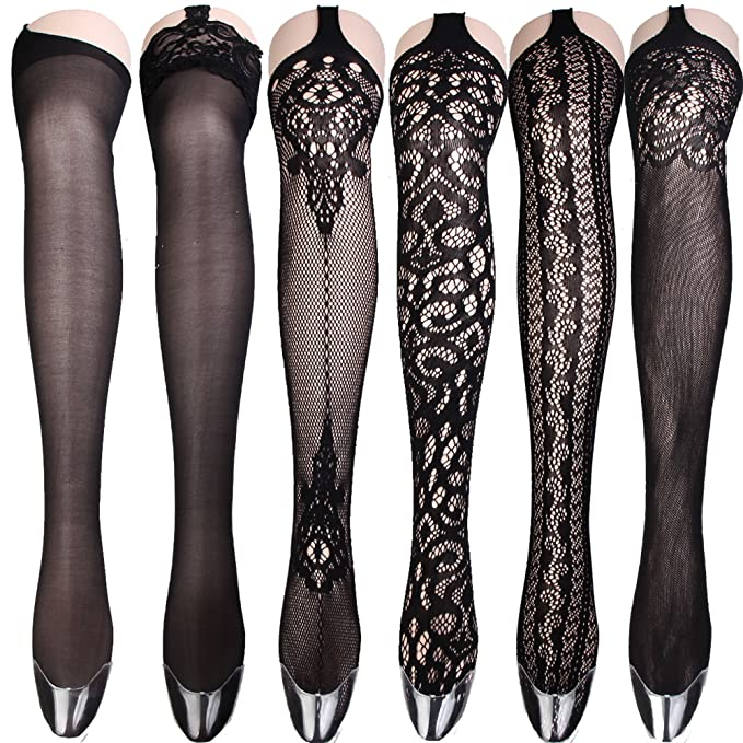 d37872907 Women Sexy Big Cross Fishnet Tights Large Mesh Sheer Stockings Hollow Out  Pantyhose Hosiery (4pcs