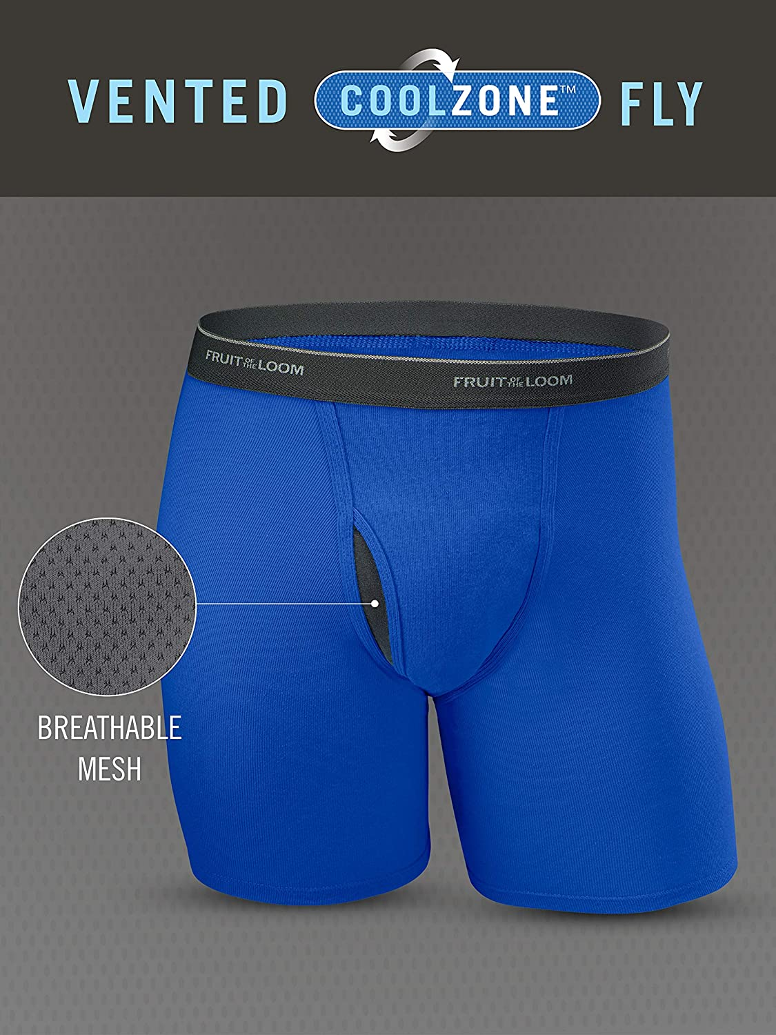Fruit of the Loom Mens No Ride Up Boxer Brief