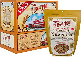 product image for Bob's Red Mill Gluten Free Honey Oat Granola, 12 oz (Pack of 4, Resealable)