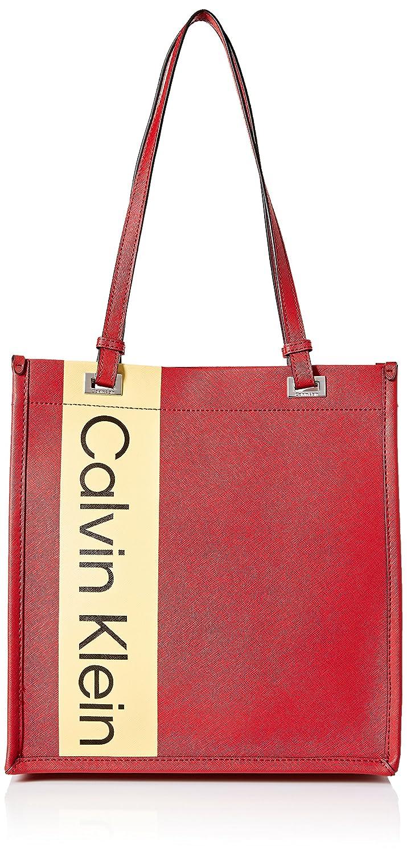 Calvin Klein レディース B079PBLFNK Red/Silver Metllc One Size