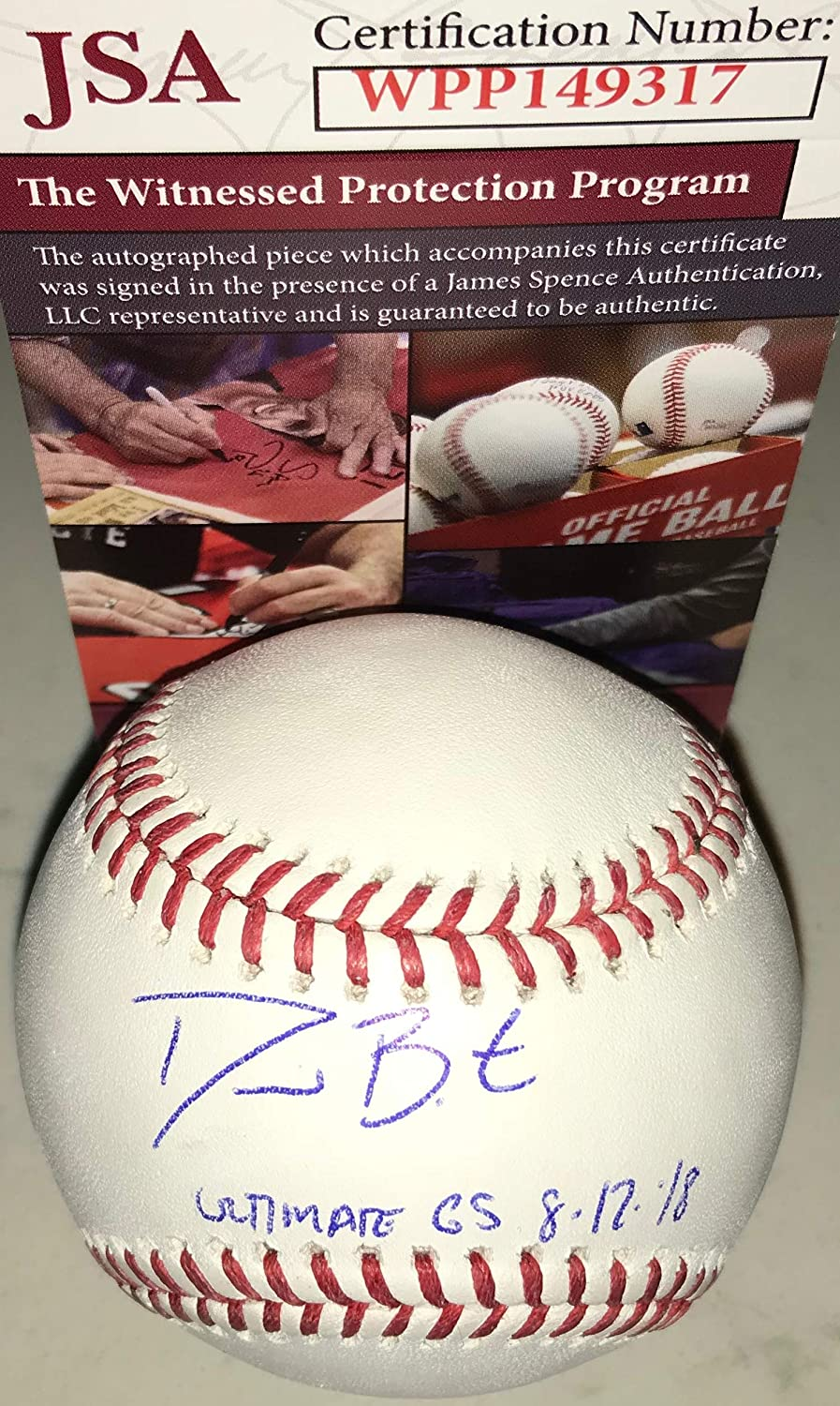 David Bote Chicago Cubs Autographed Signed Official Major League Baseball JSA WITNESS COA Ultimate GS 8-12-18 SidsGraphs