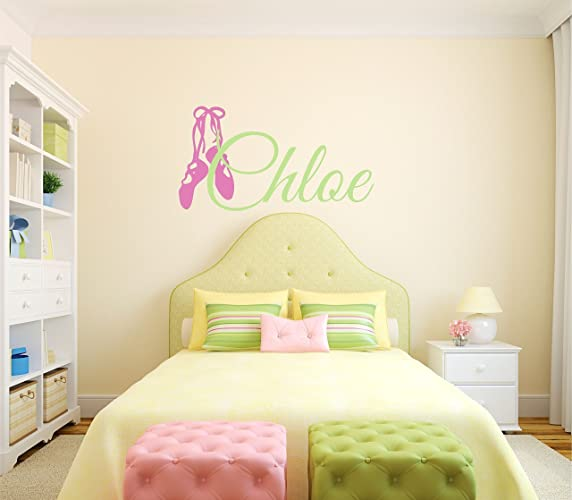 Amazon.com: Custom Name Ballet Dance Wall Decal - Girls Personalized ...