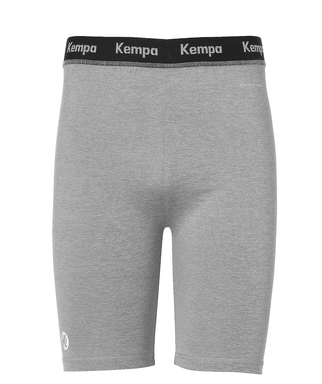 Kempa Attitude Pantalones/Shorts de Entrenamiento, Hombre, Gris Oscuro Mezcla, 164