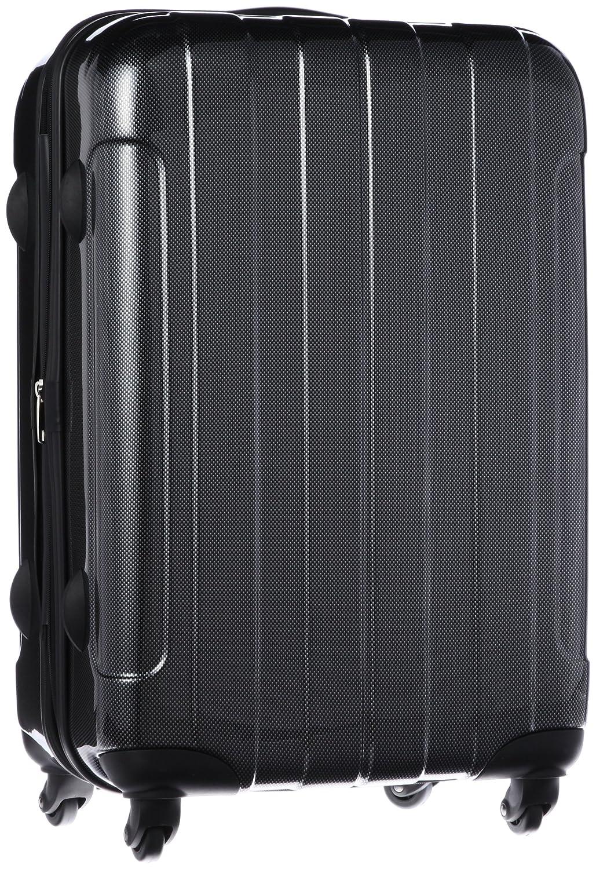 [シフレ] ハードジッパースーツケース 拡張式 保証付 57L 60cm 3.9kg B5853T-60 B00DURKSX4 カーボンブラック カーボンブラック