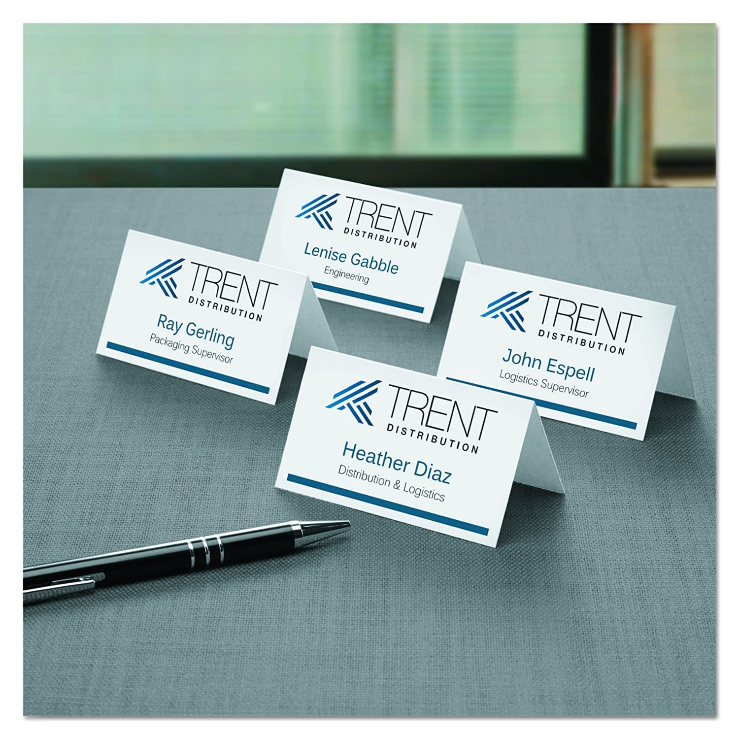 avery small tent cards 2 x 3 5 inches white office