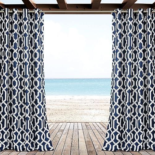 Lush Decor 16T001462 Outdoor Window Curtain Panel Set
