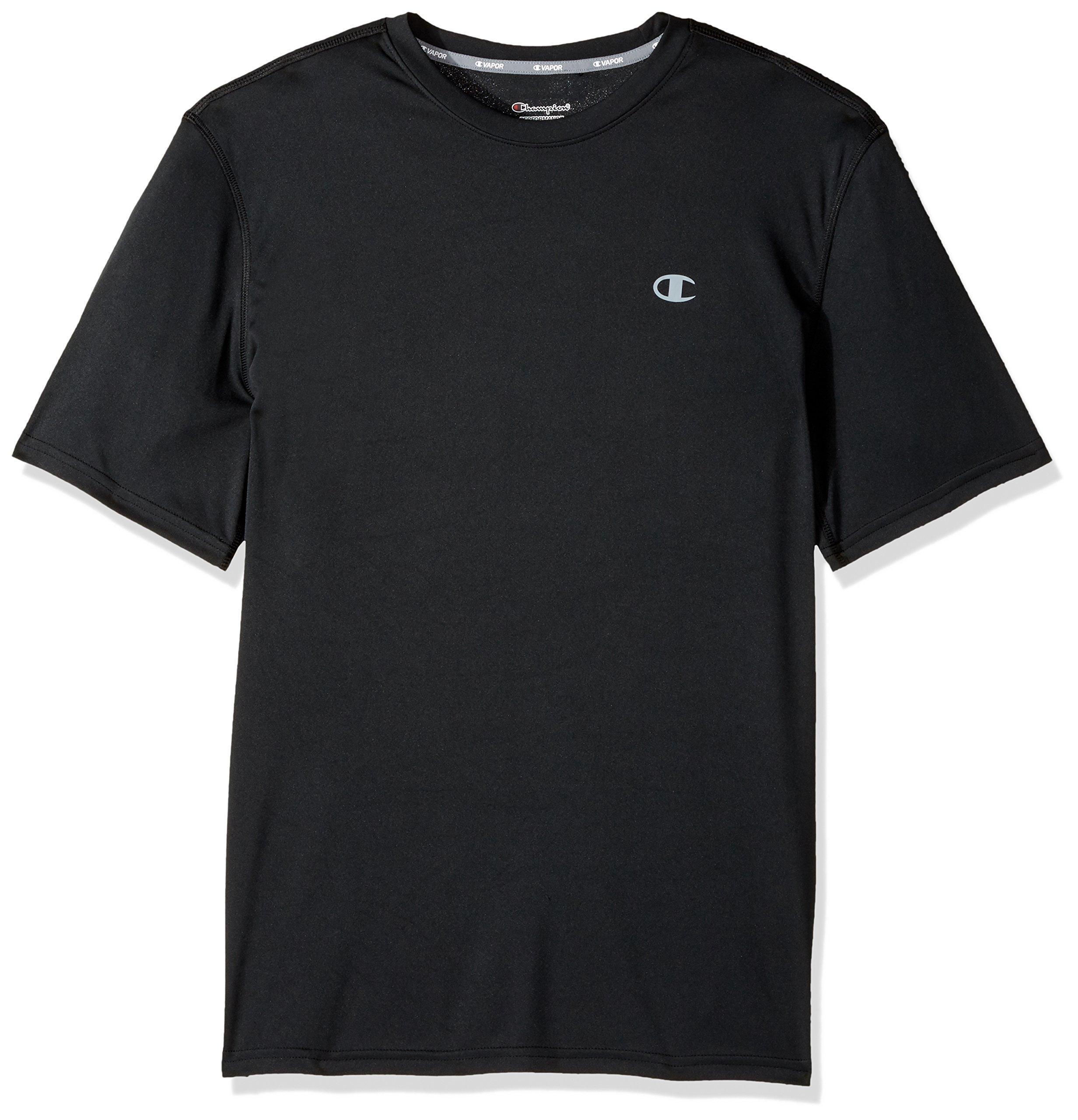 Champion Men's Double Dry T-Shirt, Black, XL