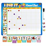 """Kids Behaviour Reward Chart - 63 Chores as Potty Train, & More. """"Thick Magnetic"""" star chart Board/Tasks-for multiple kids"""
