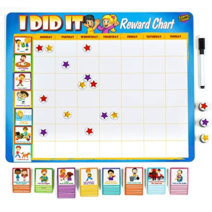 picture relating to Token Board Printable identified as Study Climb Child Chore Chart - 63 Behavioral Chores as Potty Teach, Behaviors Further. \u201cThick Magnetic\u201d Gain Chart Board/Assignments-for Many Small children