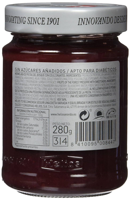 Helios Mermelada Dieta Frutas del Bosque - 280 gr: Amazon.es: Amazon Pantry