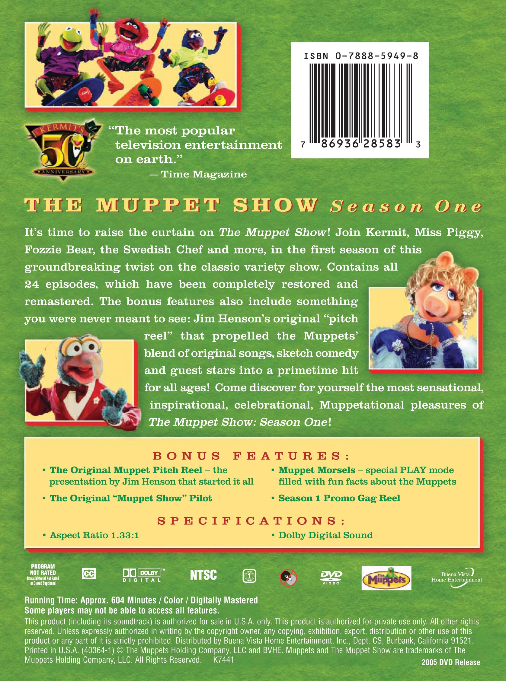 The Muppet Show: Season 1 by Buena Vista Home Video