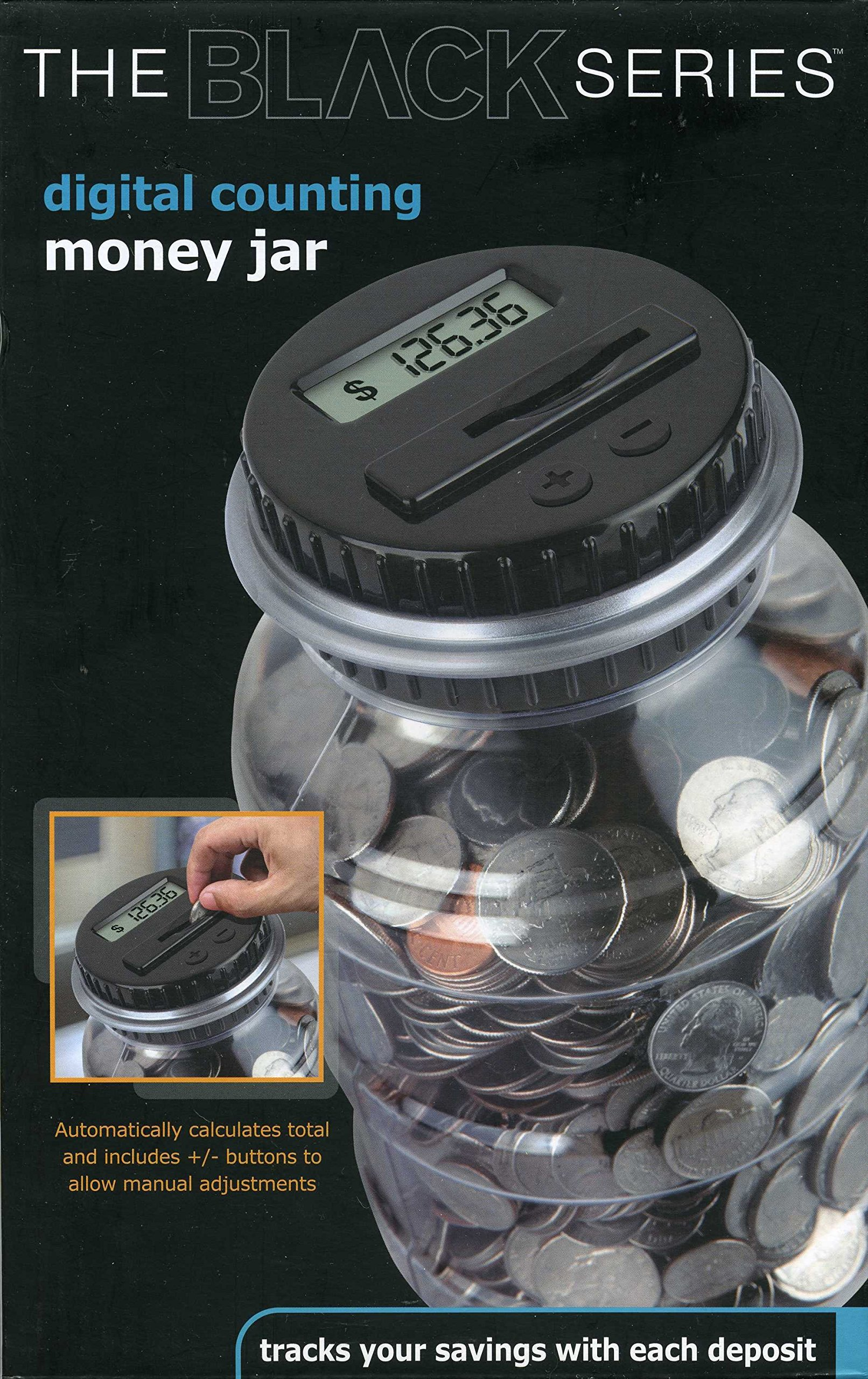 The Black Series Digital Counting Money Jar (clear) by Shift3 (Image #1)