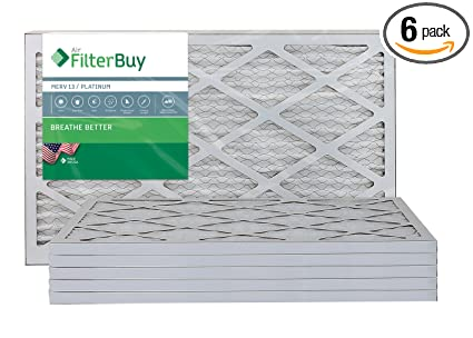 6 Pack 17x22x1 Ultimate Allergen Merv 13 Replacement AC Furnace Air Filter