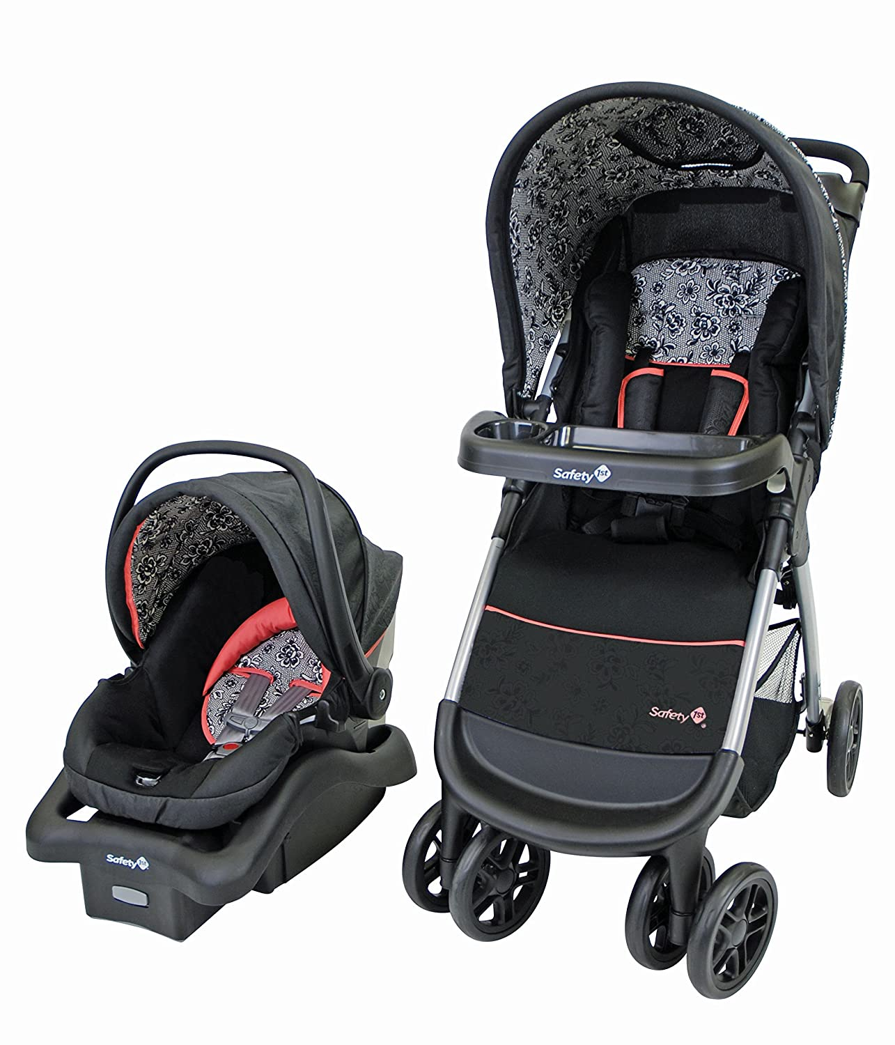 Safety 1st 01281CCZF Amble Quad Travel System, Gentle Lace Dorel Juvenile