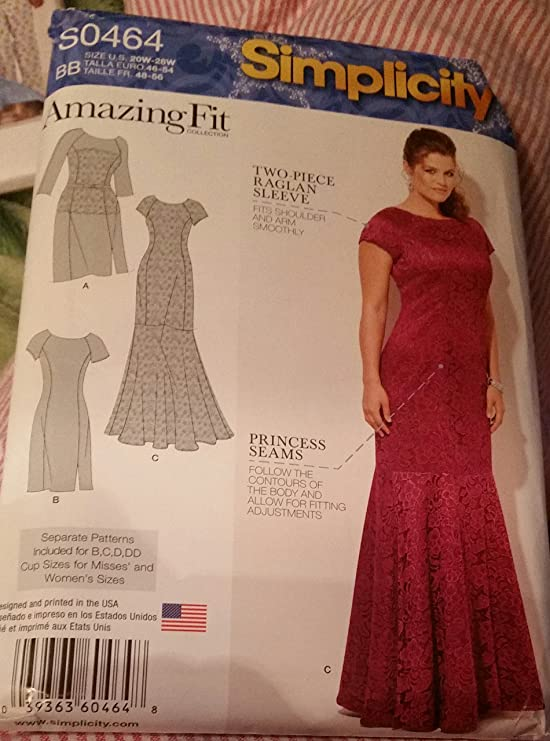 Amazon Simplicity Amazing Fit Pattern 0464 Womans Day Or