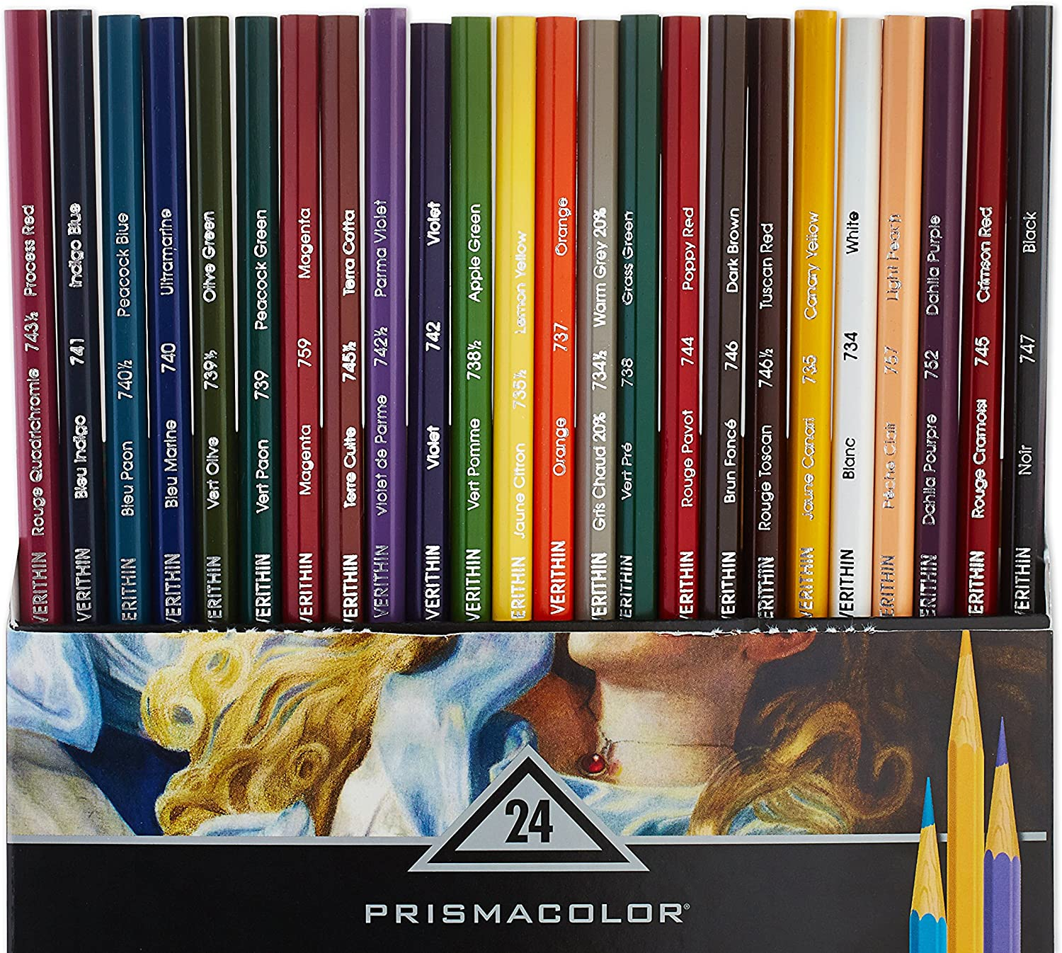 Prismacolor Verithin Colored Pencils Set of 12 Assorted Colors
