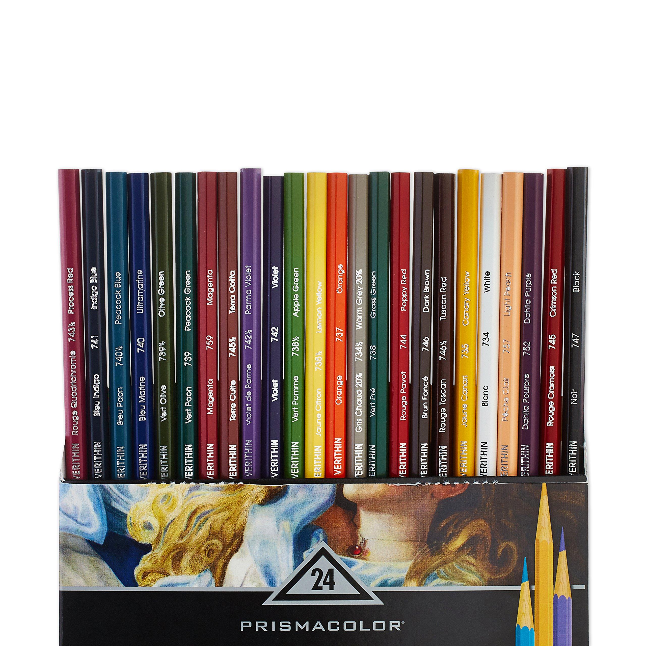 Prismacolor 2427 Premier Verithin Colored Pencils, 24-Count by PRISMACOLOR