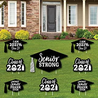product image for Big Dot of Happiness Senior Strong - Yard Sign and Outdoor Lawn Decorations - Class of 2021 Graduation Yard Signs - Set of 8
