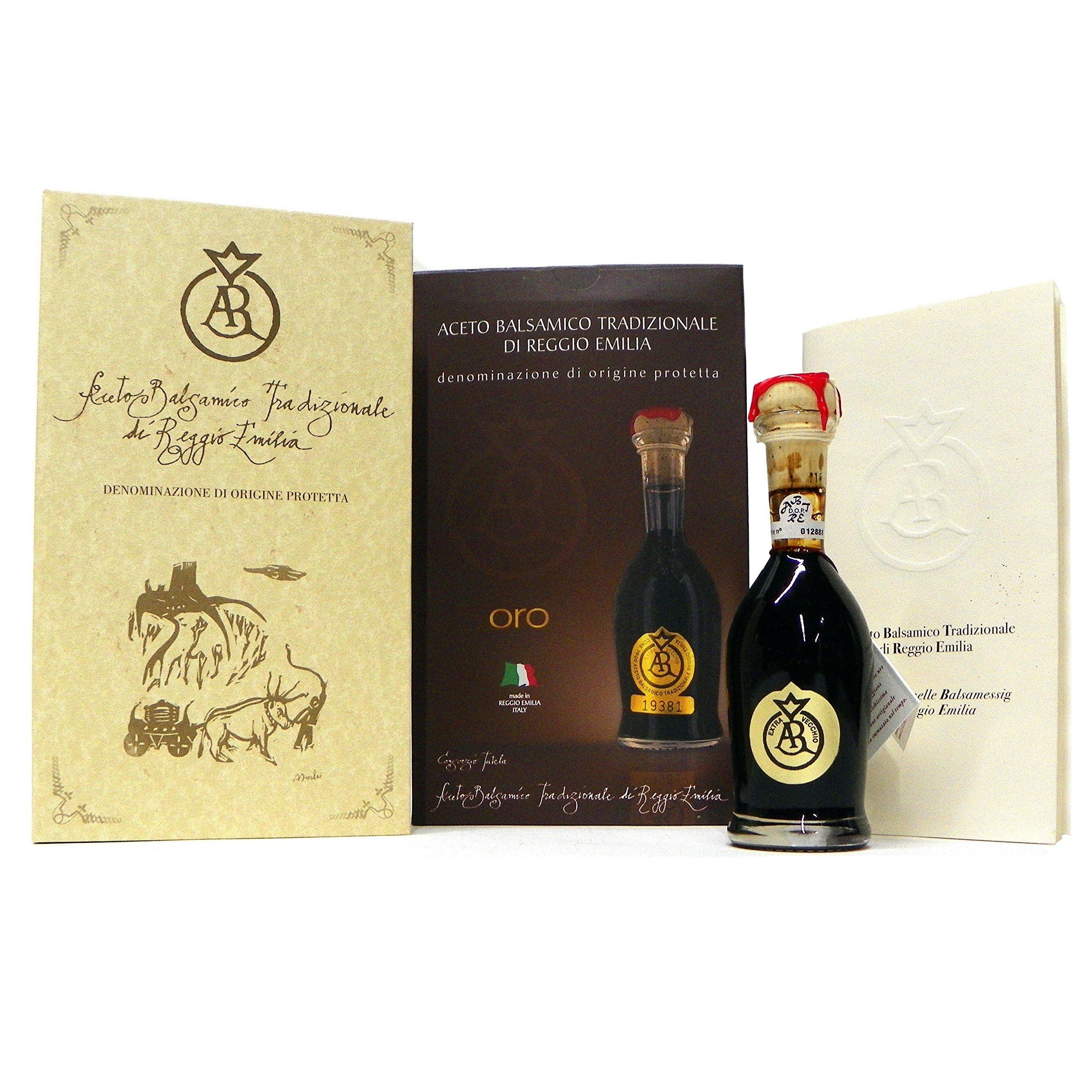 Acetum Traditional Balsamic Vinegar Di Reggio Emilia, Oro (Gold) 25 Years+ DOP, 100 ml