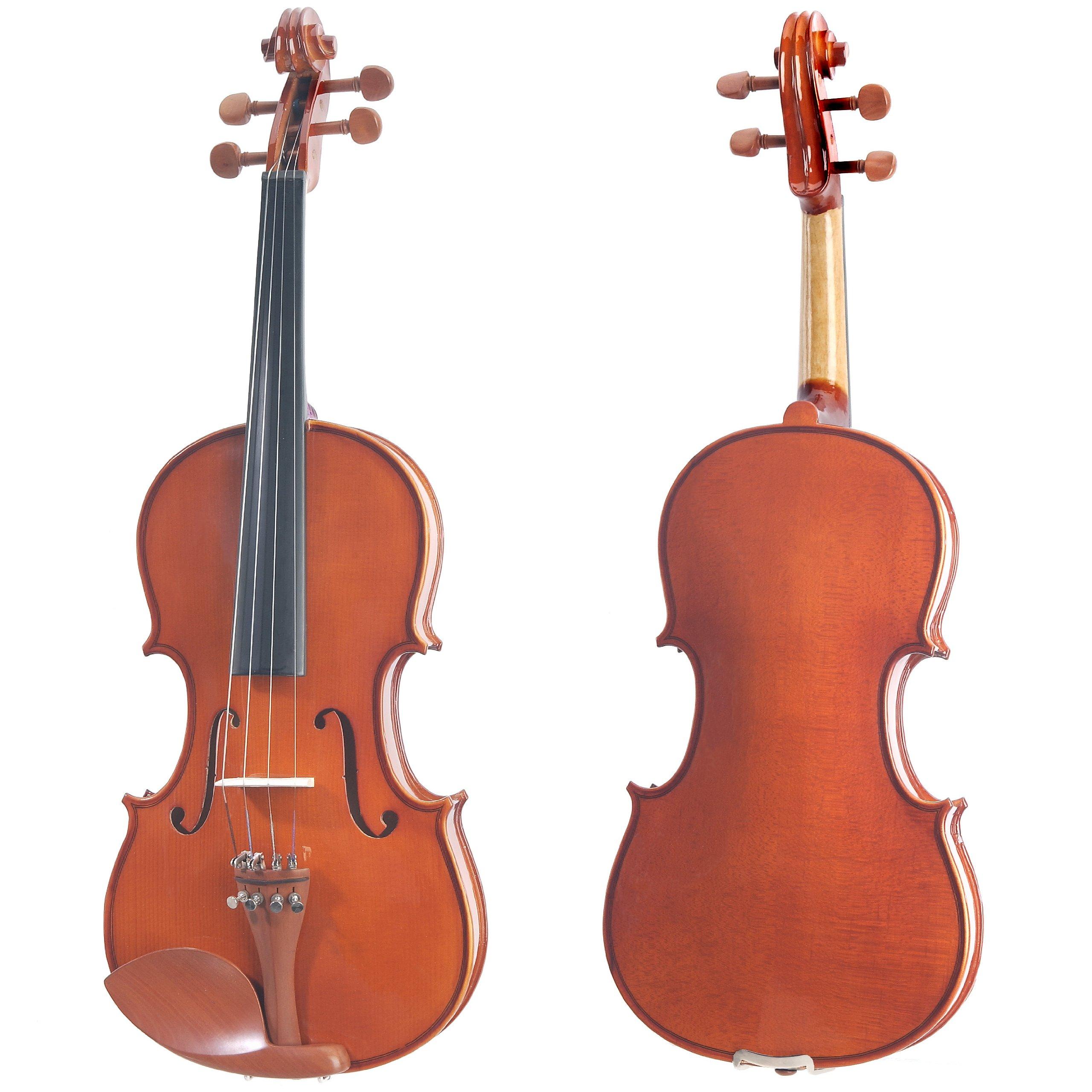 Cecilio CVN-200 Solidwood Violin with D'Addario Prelude Strings, Size 4/4 (Full Size) by Cecilio (Image #2)