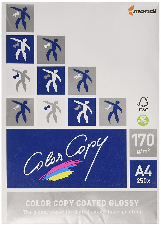 Color copy Carta Patinata Lucida, A4 gr. 170 Mondi 858201