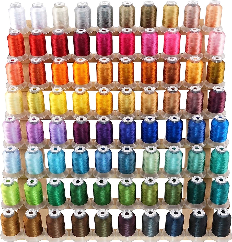 New brothread 80 Carretes Janome Colores Poliéster Máquina Bordado Hilo 500M - NuevosColores Surtido