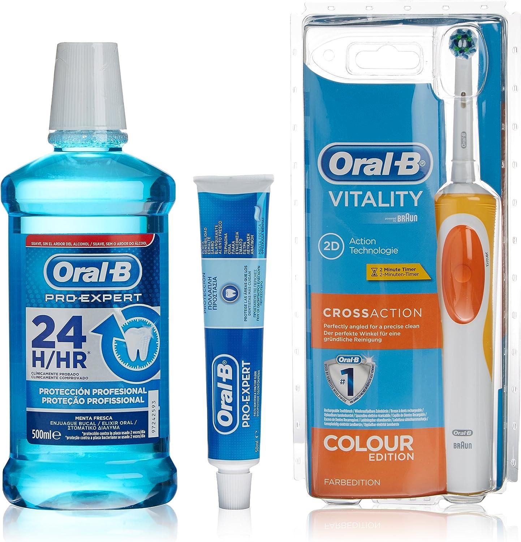 Oral-B Cepillo Eléctrico + Dentífrico Pro Expert Vitality Cross ...