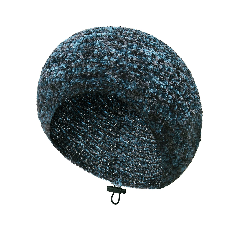 TEFITI Womens Chenille Snood Hairnet Headcover Knit Beret Beanie Cap Headscarves Turban-Cancer Headwear for Women