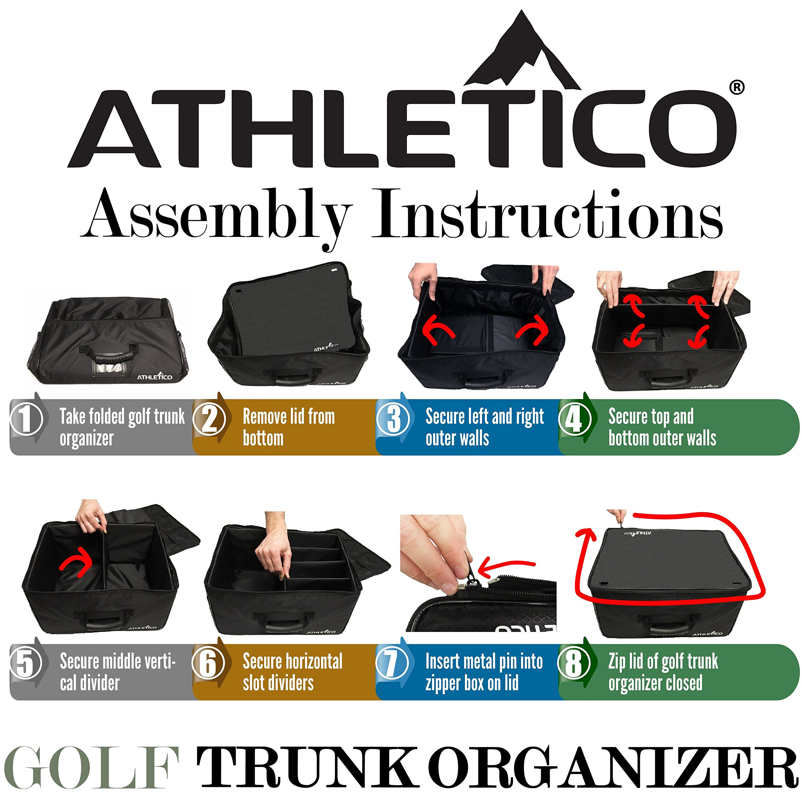 Athletico Golf Trunk Organizer Storage - Car Golf Locker To Store Golf Accessories | Collapsible When Not In Use by Athletico (Image #9)