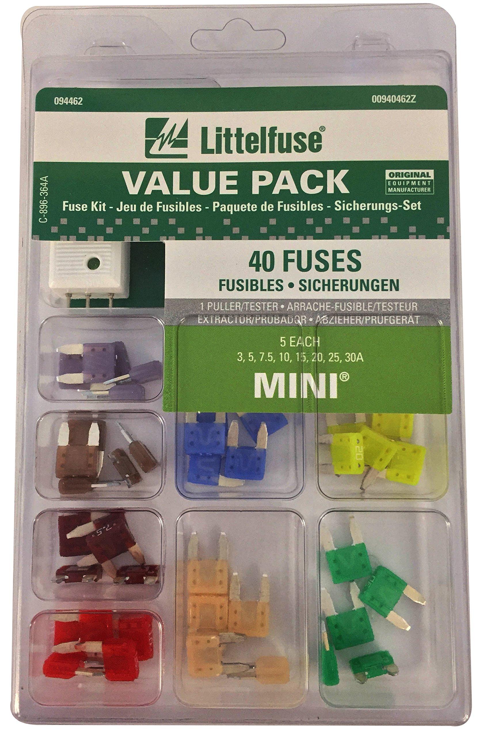 Littelfuse 00940462Z Mini Fuse Assortment - 40 Piece