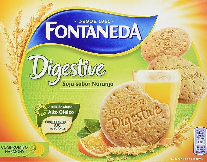 Fontaneda - Digestive - Galletas de soja y fruta - 600 g