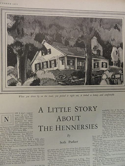 Amazon com: A Little story about the Hennersies by Seth Parker